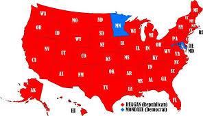 Reagan Mondale Electoral Map