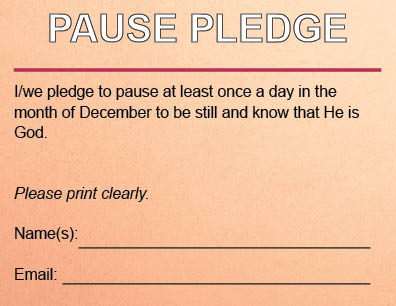 Pause Pledge Card single